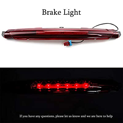 for 2002-2012 Chevrolet/Chevy Avalanche LED 3rd Third High Mount Brake Light Led Tail Lamp (Red Lens): Automotive