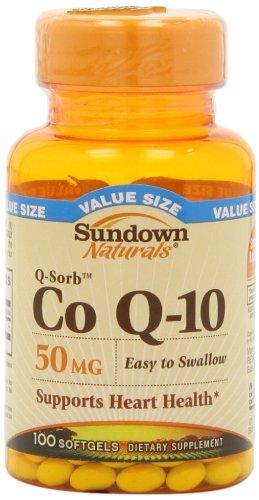 Sundown Naturals Q-Sorb Co Q-10, 50 mg, Valeur Taille, 100 gélules (pack de 2)