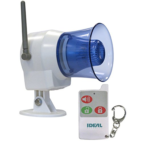 Ideal Security Inc. SK626 SK6 Wireless Indoor/Outdoor Siren With Remote Control Panic Button, Super-loud 110dB - Siren Alarm Remote