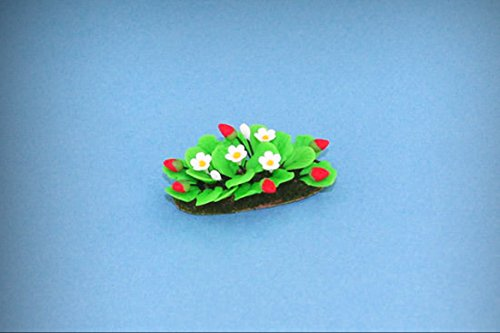 Dollhouse Miniature Filled Garden Bed with Growing Strawberries #WCFL49 - My Mini Fairy Garden Dollhouse Accessories for Outdoor or House Decor
