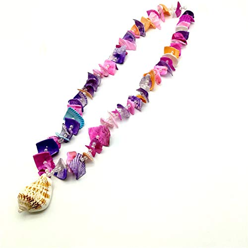 Conch Shell Imitation Pearl Clavicle Chain Necklace,for Party Christmas Hawaiian Leis Hawaiian Luau Necklaces