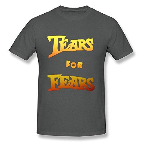 PASSIONC Men's Pop Rock Band Tears For Fears T-shirt Natural L