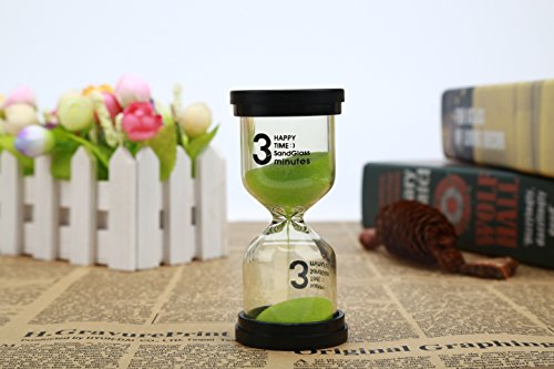 VEOLEY Tooth Brushing Sand Timer 3 Min Colorful Clear Transparent Acrylic Hourglass Sand Timer classroom hourglass sand clock kids Desk Shelf Ornaments for Kids / Student (Sand Time)