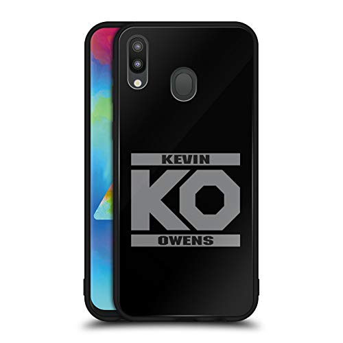 Official WWE KO Fight Kevin Owens Black Hybrid Glass Back Case Compatible for Samsung Galaxy M20 (2019) ()