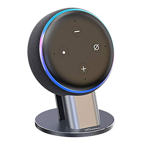 Supmega Metal Stand for Echo Dot 3rd Generation Holder Accessories [No Muffled Sound] Mount for Smart ()