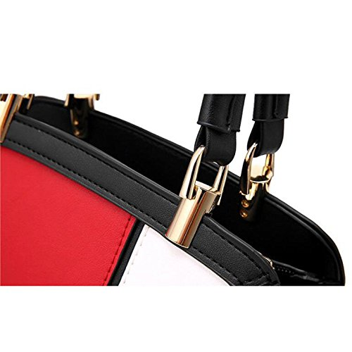 Main Red BAILIANG Womens Simple Mode Cuir à Coutures Bandoulière Sac à Sac U40pP4wTq