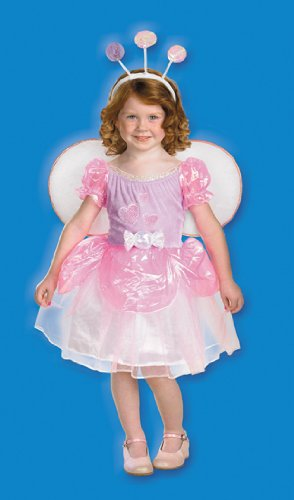 Toddler Girl'S Costume: Bugz Lolli Candy Fairy- 1T-2T *** Product Description: Purple Dress With Iridescent Puff Sleeves And Skirt, Detachable Wings, Detachable Candy Bow And Lollipop Headpiece. Toddler Girl'S Size 1T/2T. ***