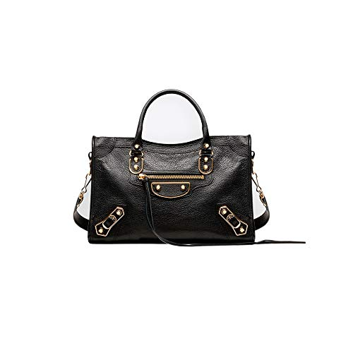 Balenciaga Classic Metallic Edge Handbag City Black Lambskin Bag