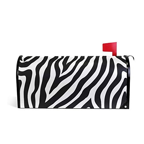 MAHU Magnetic Mailbox Cover Zebra Animal Skin Print Post Box Letter Cover Mailbox Wrap for Home Garden Yard Decor, 20.7''x18.03''