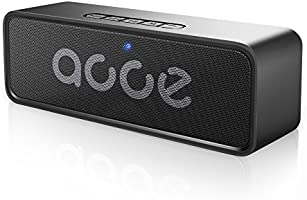 AOOE音質核心版ポータブルBluetooth4.2スピーカー / 12時間連続再生 / ワイヤレス / 360°全方位サウンドスピーカー / 6Wダブルドライブデュアルドライバー / 3 Dデジタルダイナミックス低音 / 内蔵ノイズリダクションマイク/ AUX/ SDカード/ USB、 iPhone / iPad / Sony / Samsung/ HTCと他の全てのAndroid設備など対応 (黒)