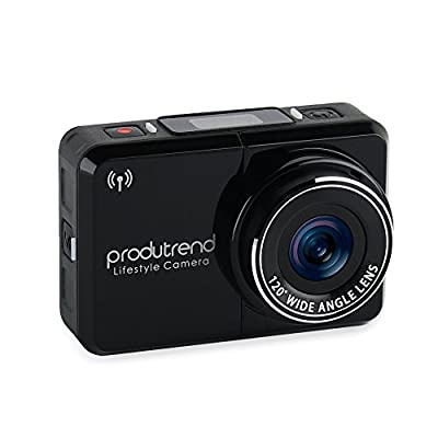 Action Sports Camera Car Dash Cam Wifi - Produtrend Video ActionCam 120 Degree Wide Angle Lens Full HD Camcorder 1920 x 1080P 8 Megapixel CMOS Sensor - Timer, Time Lapse, Loop Recording by Produtrend
