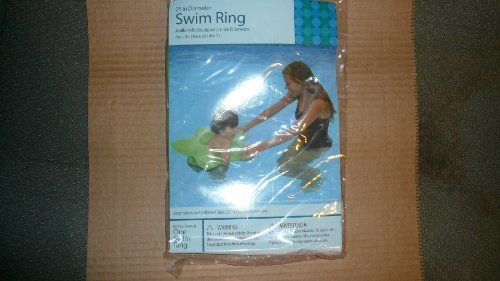 Bright verde Star Shaped Swim Ring by Walmart