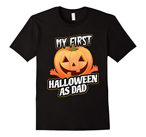 Mens My First Halloween as Dad Gift T-shirt Costume & Decor 2XL Black