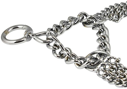 Pictures of Triple Chain Martingale Dog Collar 2.5mm Silver 3