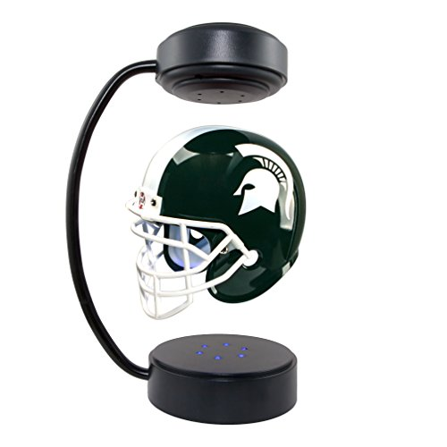 Michigan State Spartans NCAA Hover Helmet - Collectible Levitating Football Helmet with Electromagnetic Stand (State Michigan Stand)