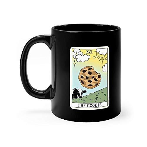 COOKIE READING 11oz Black Ceramic Cow Farm Mug Gift Farm Animal Lover Men ()