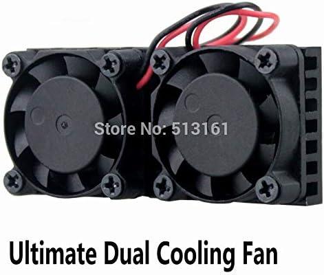 20pcs Gdstime Ultimate Raspberry Dual Fan Heatsink Cooler Double Cooling Fan For Raspberry Pi 3//2// NESPI Case