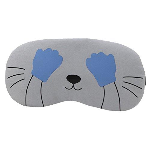 Eye Mask Relax Sleeping Blindfold Soft Padded Sleep Travel Shade Cover Rest (B) by Kailemei (Image #2)
