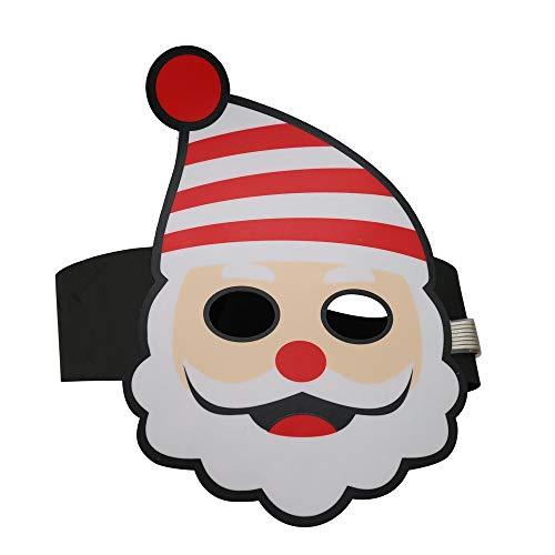 Tuu Christmas Mask Adjustable LED Sound Reactive Music Light Up Mask Toy (As Show) -