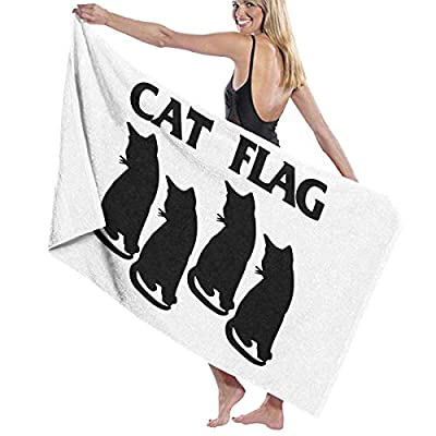 LXXYZ Cat Flag Prints Bath Towel Wrap Womens Spa Shower and Wrap Towels Swimming Bathrobe Cover Up for Ladies