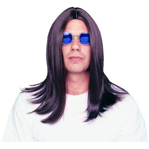 Costume Culture Men's Parted 18 Inch Wig Deluxe, Brown, One Size (Ozzy Osbourne Wig)
