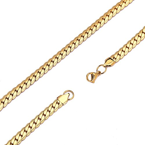 HolyFast 4-8.5mm Wide 16-36IN Figaro Link Chain Necklace Stainless Steel Necklace Vintage Chain Necklace Men Jewelry