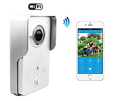 Wifi Doorbell,Wireless Visual intercom doorbell Home Security Camera Smartphone Control