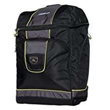 High Sierra Deluxe Bucket Boot Bag, Black/Charcoal/Chartreuse, United States Carry-On