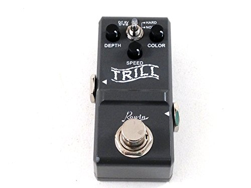 Tremolo Effect Pedal - Rowin Trill - True Bypass - Very Small Footprint by Rowin