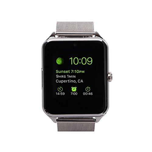 MSRM-Water-Splash-Resistant-Smart-Watch-Anti-Lost-and-Hand-free-for-Android-43-above-and-iPhone-5s66s77s-Partial-Functions-GB08-Silver