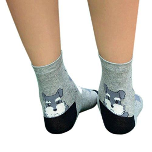 Price comparison product image Clearance! Napoo Women 3D Animals Cartoon Socks Puppy Footprints Cotton Socks (Gray)