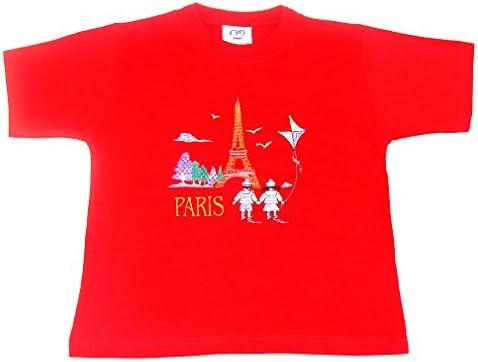 Paris Kite - Camiseta para niños, diseño bordado, color ...