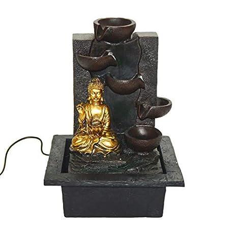 Fontana Da Interni Cascata.Druline Italy Led Fontana Da Interni Buddha Cascata Altezza 30 Cm