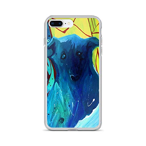 iPhone 7 Plus/8 Plus Case Anti-Scratch Creature Animal Transparent Cases Cover Abstract Ghost Dog Animals Fauna Crystal Clear