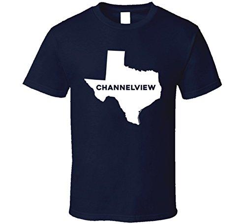 Channelview Texas Custom City Patriotic USA Map T Shirt S Navy
