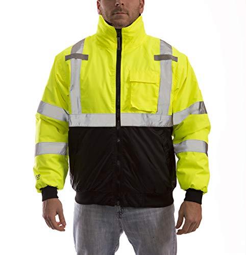 Hi Reflective Jacket - Tingley J26002.XL Job Sight High-Visibility Bomber Jacket, X-Large, Hi/Vis Yellow