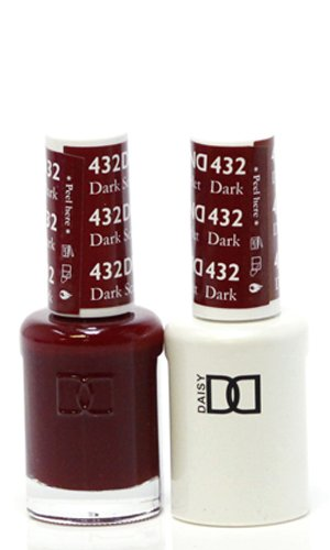(DND Duo - Matching Gel and Polish, 432 Dark Scarlet)