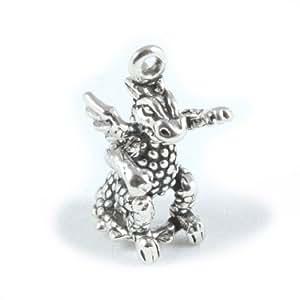 Broche de plata de ley Baby Dragon para pulsera