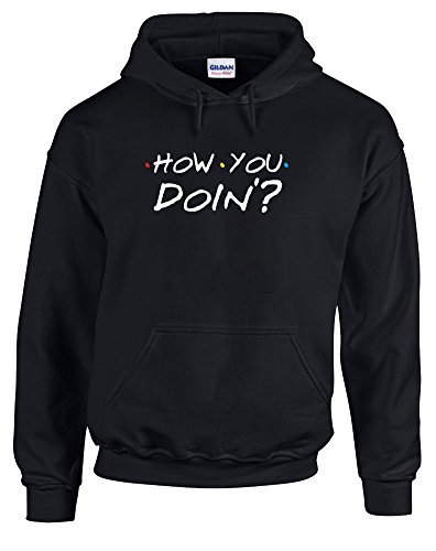 How You Doin'?, Printed Hoodie - Black/White/Transfer S