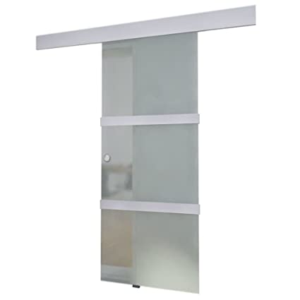 vidaXL Porta scorrevole in vetro dimensioni 205 x 75 cm.: Amazon.it ...