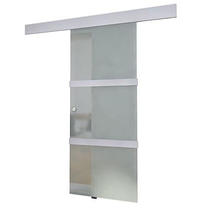 Vidaxl Porta Scorrevole Alluminio E Vetro Entrata A Scorrimento