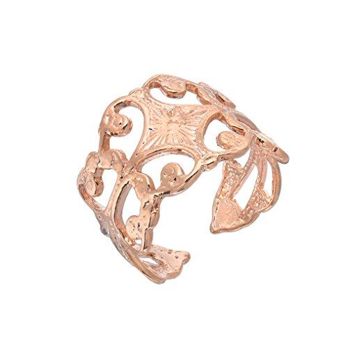 Royal Victorian Filigree Handmade Ring – 18K Rose Gold Plated Over 925 Sterling Silver – Adjustable Ring