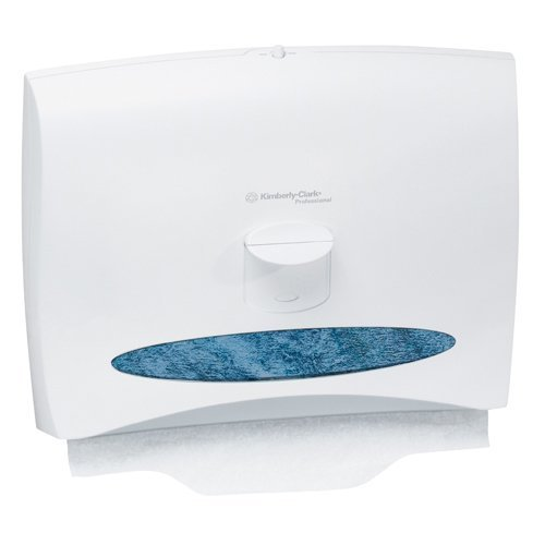 KCC09505 - Windows Toilet Seat Cover Dispenser, 17 1/2 X 3 1/4 X 13 1/4, White Pearl
