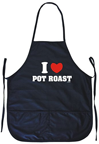 I Heart Love Pot Roast Cooking Apron With Pockets
