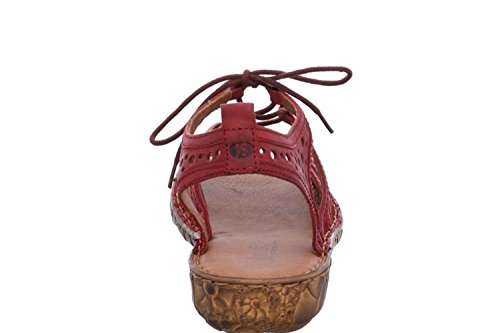 Uk Røde Josef Gladiator Tre Sandaler Kvinners Røde Seibel Rosalie 15 nwf8Rqp