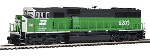 EMD SD60M WITH 3-PIECE WINDSHIELD - ESU(R) SOUND & DCC -- BURLINGTON NORTHERN 9203 (GREEN, BLACK, WHITE FRONT W/SMALL US FLAG)