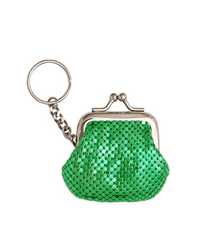 whiting-and-davis-classic-mesh-key-ring-coin-purse-green