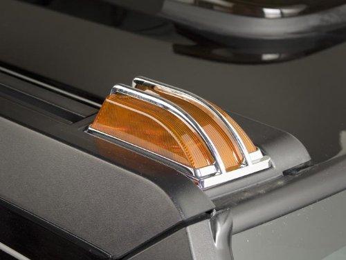 OC Parts Hummer H2 SUV/SUT ABS Chrome Corner Roof Marker Light Trim (4 pc. Set) 2003, 2004, 2005, 2006, 2007, 2008, 2009, 2010