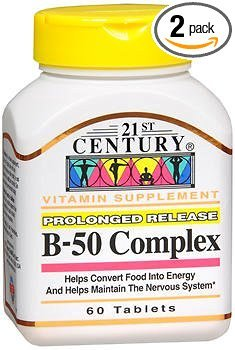 - 21st Century Complex B-50 Tablets Prolonged Release - 60 ct, Pack of 2