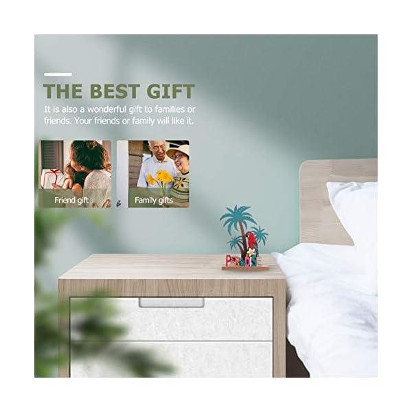 41VOgYcpMtL Amosfun Aufsteller Holz Schriftzug Papagei Kokosnussbaum Paradise Holzschrift Tropischer Stil Desktop Ornament DIY…